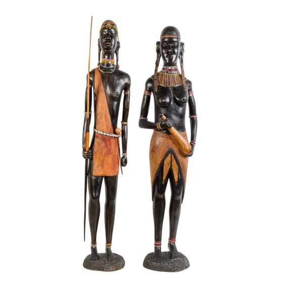 Pair of wooden sculptures. KENYA, around 1970/80. - photo 1