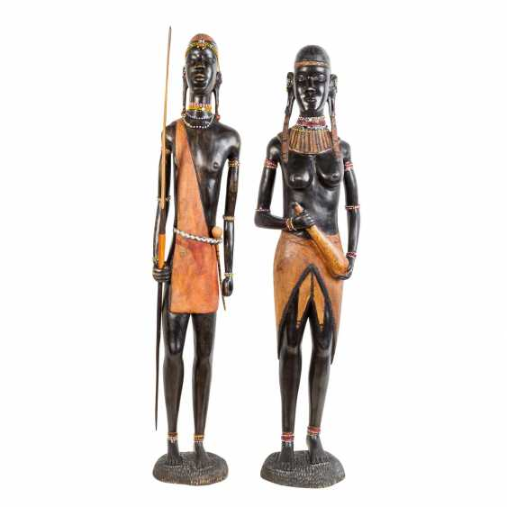 Pair of wooden sculptures. KENYA, around 1970/80. - photo 2