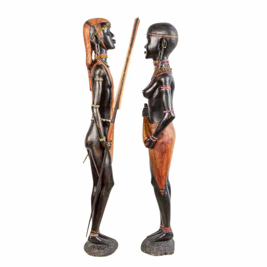 Pair of wooden sculptures. KENYA, around 1970/80. - photo 3