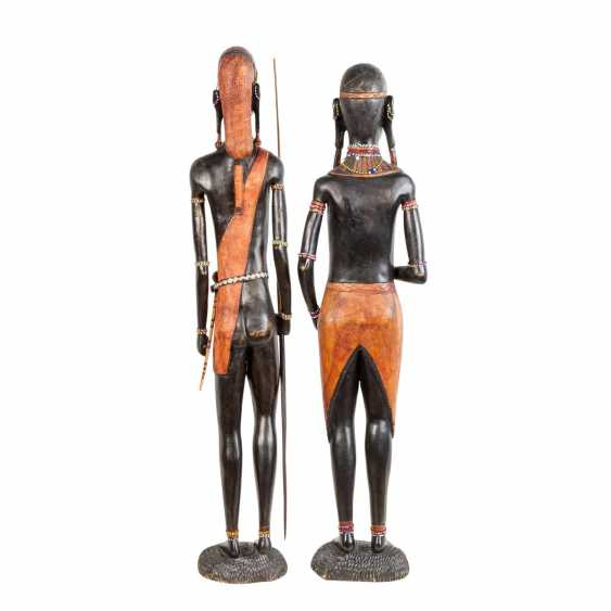 Pair of wooden sculptures. KENYA, around 1970/80. - photo 4