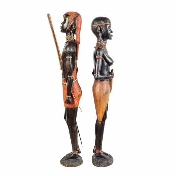 Pair of wooden sculptures. KENYA, around 1970/80. - photo 5