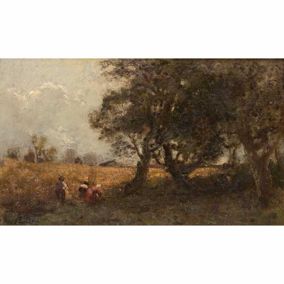 """LIER, ADOLF HEINRICH (1826-1882) """"Harvest time"""" - photo 1"""