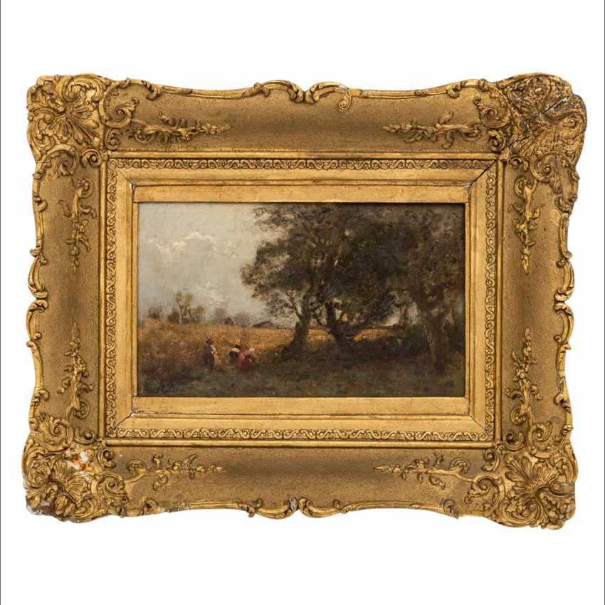"""LIER, ADOLF HEINRICH (1826-1882) """"Harvest time"""" - photo 2"""