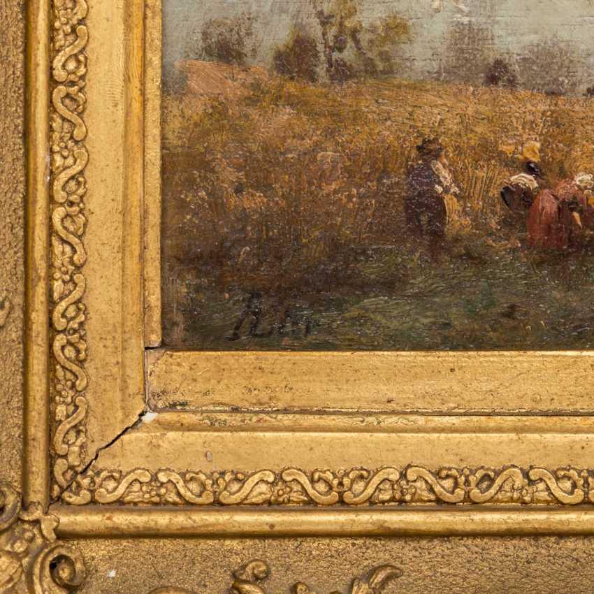 """LIER, ADOLF HEINRICH (1826-1882) """"Harvest time"""" - photo 6"""