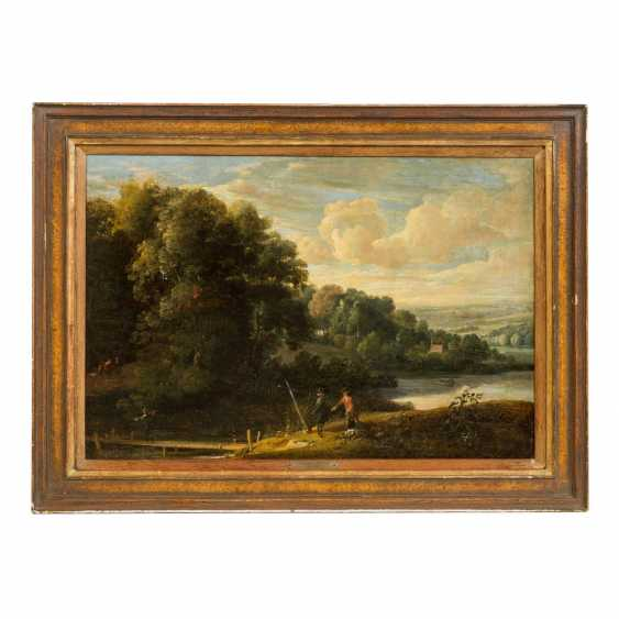 "ARTHOIS, Jacques de, ATTRIBUTED (1613-1686, painter in Brussels), ""Wanderer in a river landscape"", - photo 2"