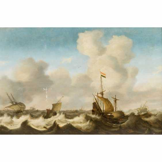 """PORCELLIS, Jan I, ATTRIBUTED / PERIOD (Ghent around 1584-1632 Soeterwoude), """"Sailors in the Storm"""", - photo 1"""