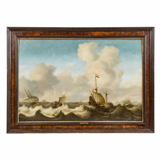 """PORCELLIS, Jan I, ATTRIBUTED / PERIOD (Ghent around 1584-1632 Soeterwoude), """"Sailors in the Storm"""", - photo 2"""