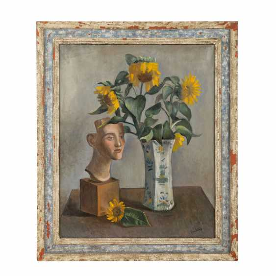 "COUBINE, OTHON (also Otakar Kubin; 1883-1967), ""Still life with a bust and sunflowers in a vase"", - photo 2"