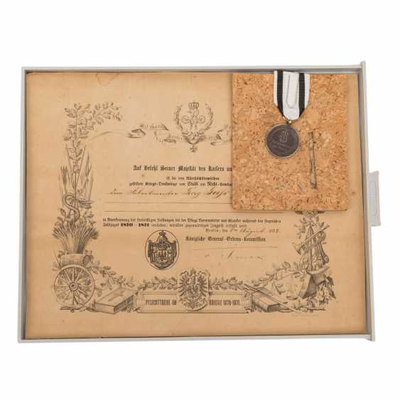 1870/71 Rare compilation of documents, award certificates - photo 2