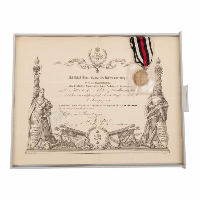 1870/71 Rare compilation of documents, award certificates - photo 3