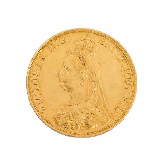 GB / GOLD - Rare 5 pound piece 1887 - photo 1