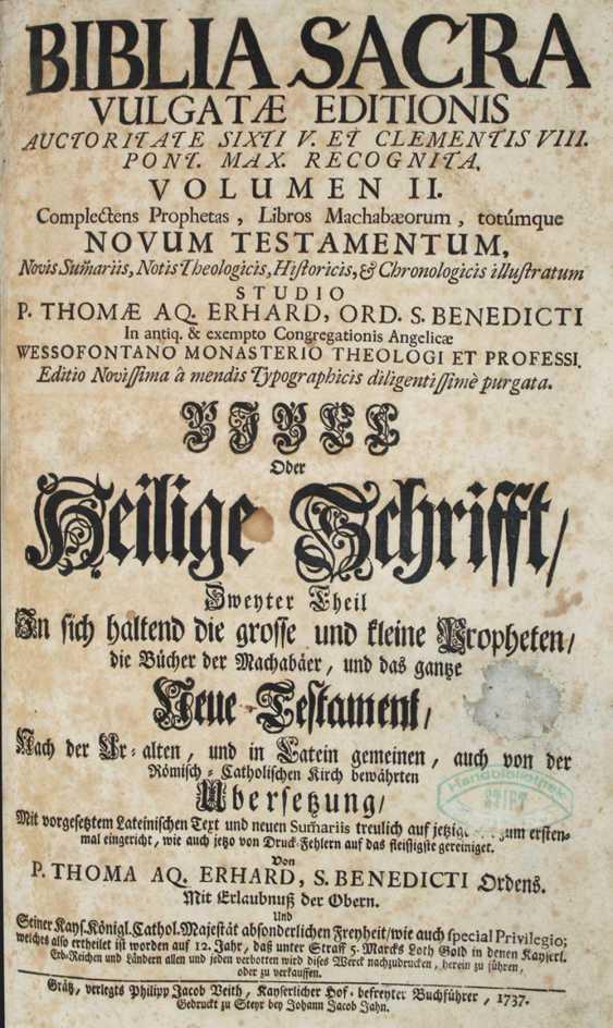 Latin-Germanic Biblia. - photo 1