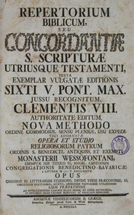 Repertory Biblicum, - photo 1