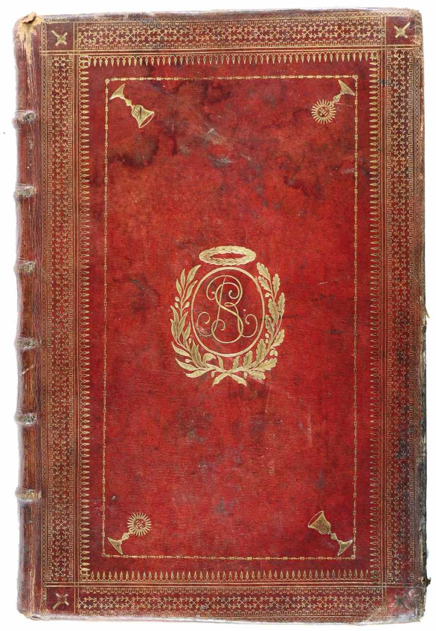 Dark red maroquine binding - photo 1