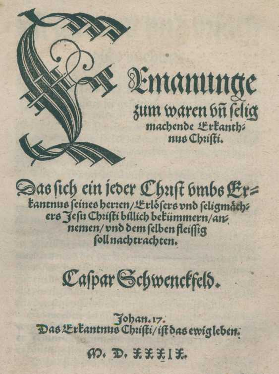Schwenckfeld, C. - photo 1