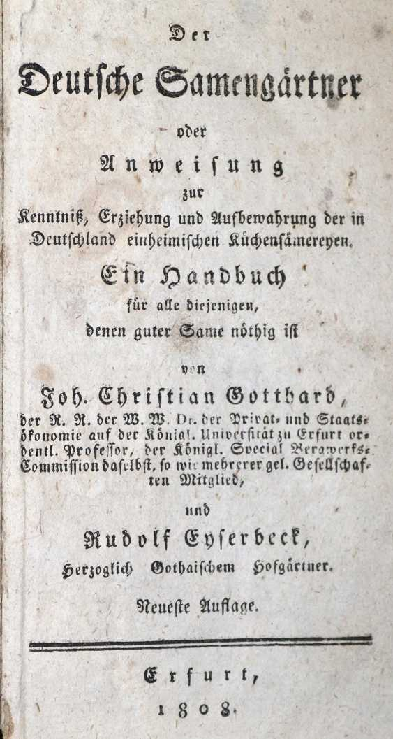 Gotthard, J.C. u. R.Eyserbeck. - photo 1