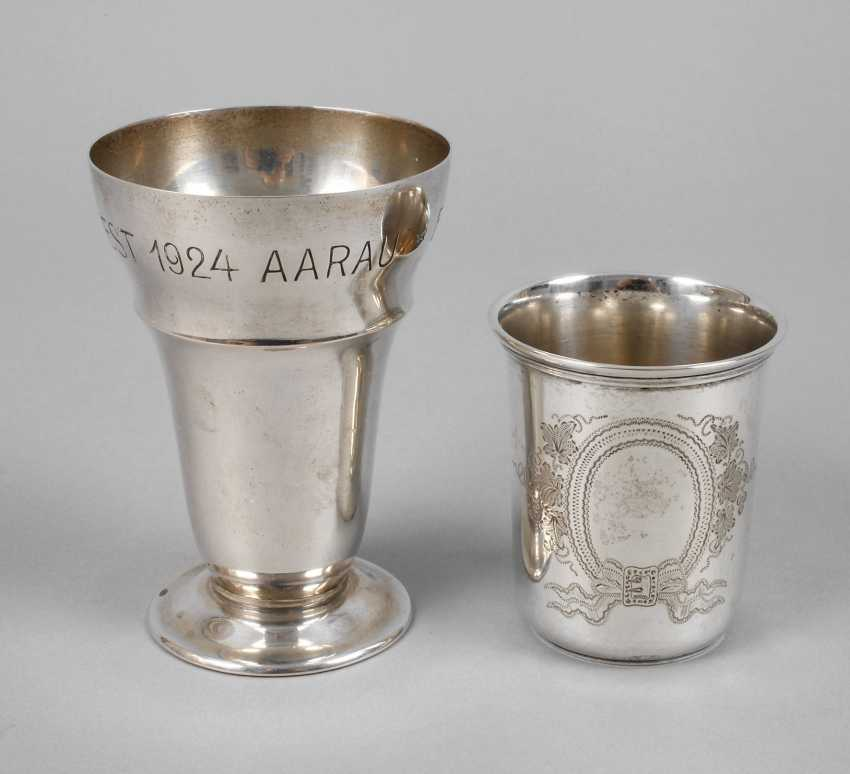 Two Silver Cups Auction Catalog Art And Antique Part Ii