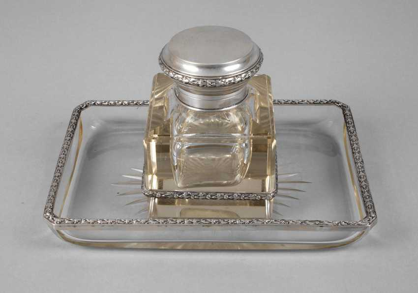 Silver Inkwell Art Nouveau Auction Catalog Art And Antique