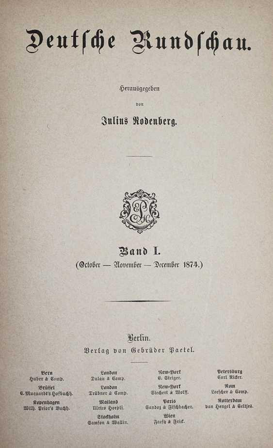 Deutsche Rundschau. - photo 1