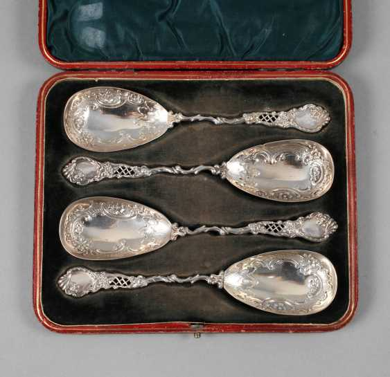Auction Lot 4414 Silver Four Serving Spoons England From
