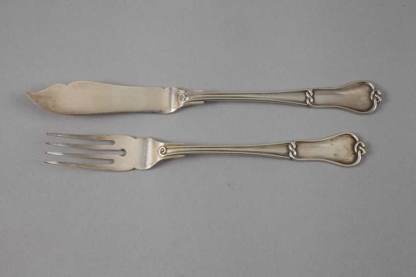 Silver Fish Cutlery Art Nouveau Auction Catalog Art And
