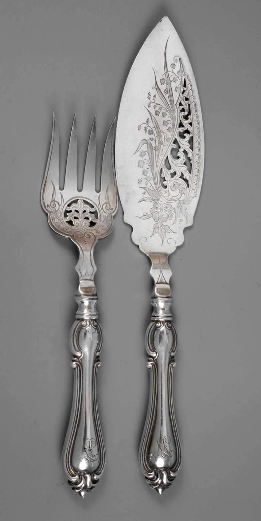 Lot 4424 Fish Serving Cutlery Historicism From The Auction