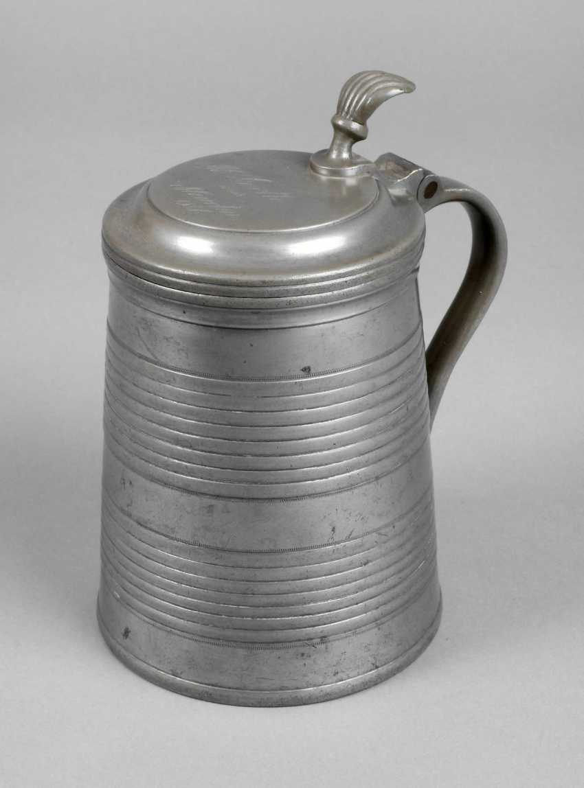 Lot 4446 Altenburger Pewter Lid Tankard From The Auction