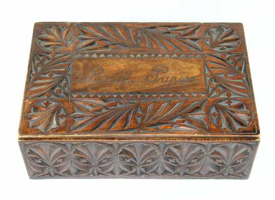 Wooden box with collectibles - photo 1