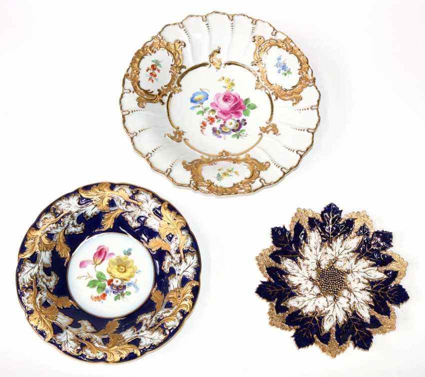 Meissen 3 splendid plates - photo 1