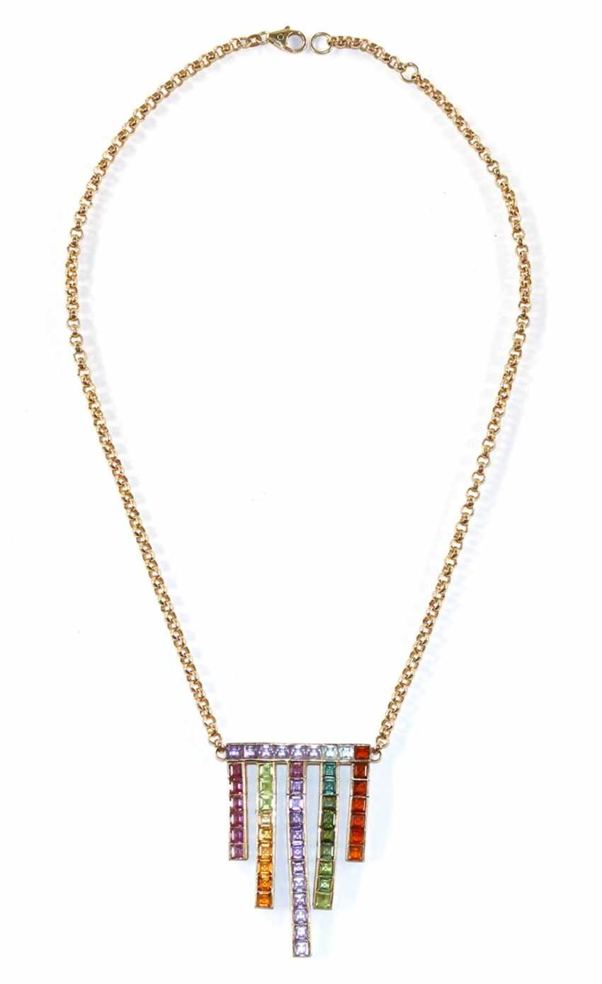 585 yellow gold Art Deco necklace. - photo 2
