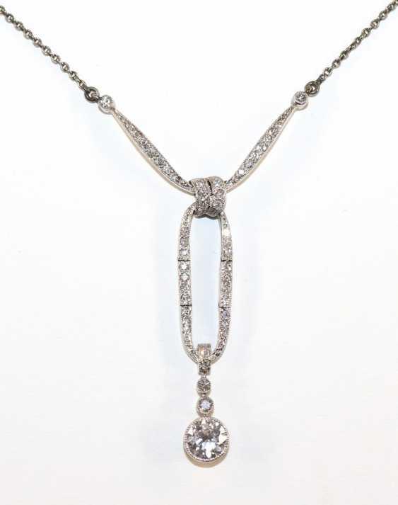 Art Nouveau diamond chain - photo 1
