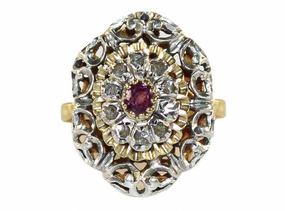 Demiparure ruby 750 yellow gold - photo 1