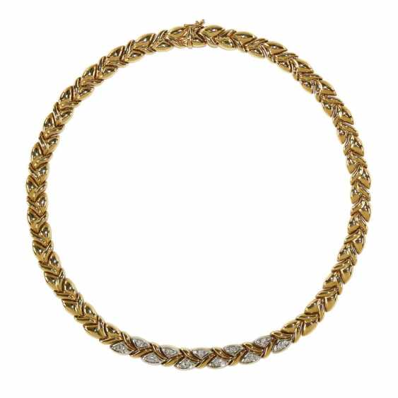 Diamond necklace 585 yellow gold - photo 1