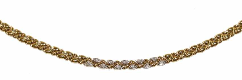 Diamond necklace 585 yellow gold - photo 2