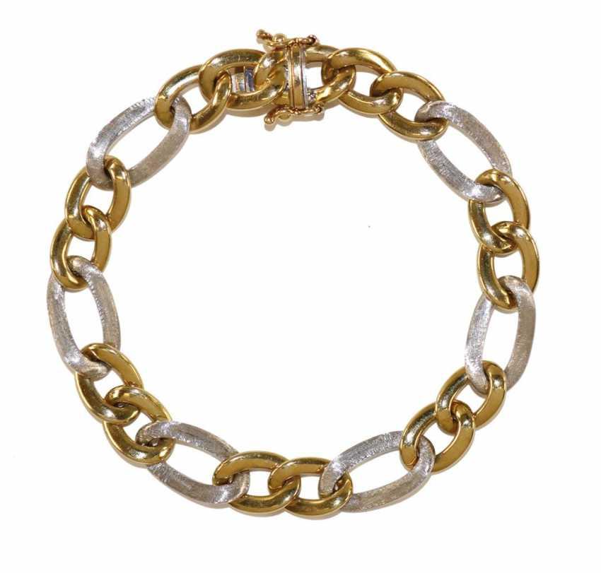 Link bracelet 750 yellow gold / WG. - photo 1