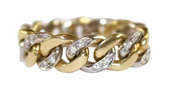 Chain ring diamond 585 WG / GG. - photo 1