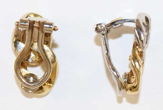 Ear clips 750 yellow gold / flat share. - photo 2