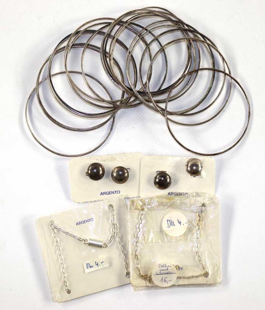 45 pieces silver jewelry - photo 3