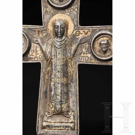 Extraordinary silver encolpion with partial gilding, late Byzantine, 11th - 13th century - photo 2