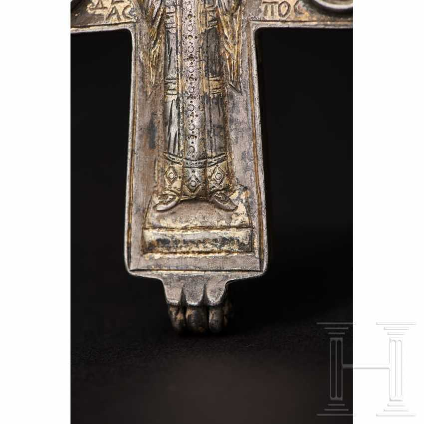 Extraordinary silver encolpion with partial gilding, late Byzantine, 11th - 13th century - photo 3