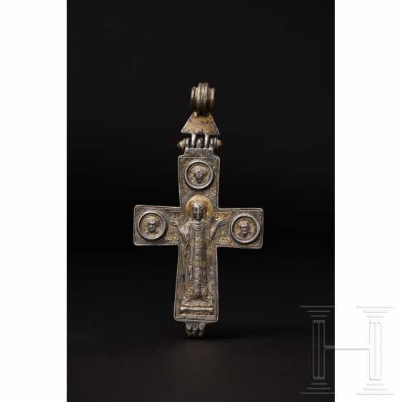 Extraordinary silver encolpion with partial gilding, late Byzantine, 11th - 13th century - photo 4