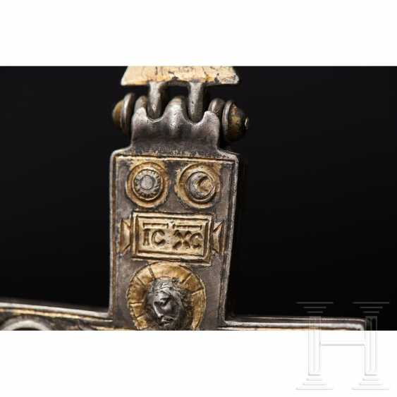Extraordinary silver encolpion with partial gilding, late Byzantine, 11th - 13th century - photo 7