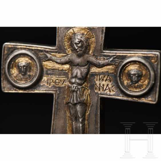 Extraordinary silver encolpion with partial gilding, late Byzantine, 11th - 13th century - photo 8