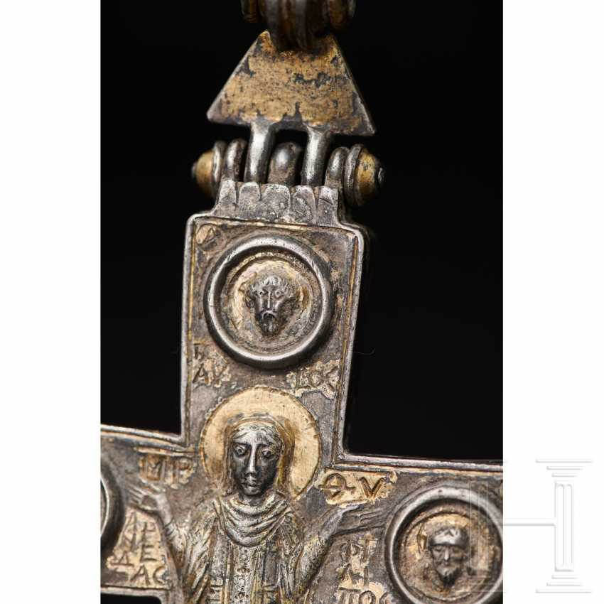 Extraordinary silver encolpion with partial gilding, late Byzantine, 11th - 13th century - photo 9