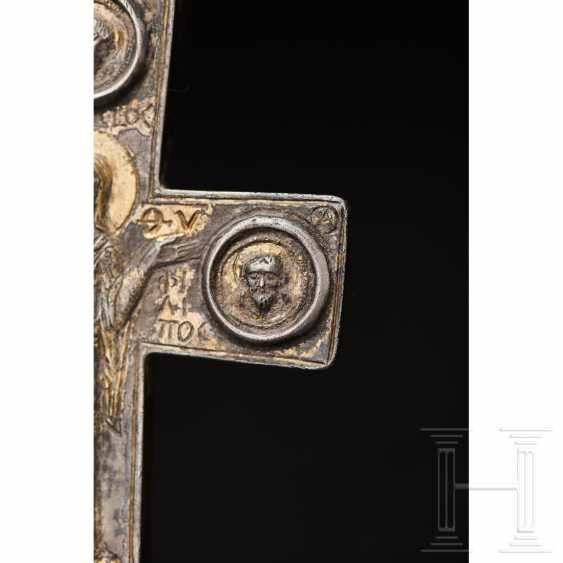Extraordinary silver encolpion with partial gilding, late Byzantine, 11th - 13th century - photo 10