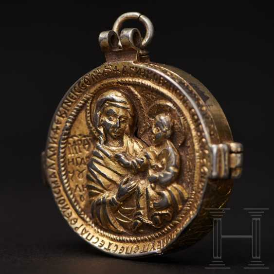 Important reliquary pendant, late Byzantine, 2nd half of the 14th - beginning of the 15th century - photo 1
