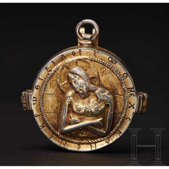 Important reliquary pendant, late Byzantine, 2nd half of the 14th - beginning of the 15th century - photo 5