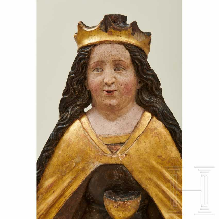 Relief depicting Saint Barbara, Swabia, around 1500 - photo 5