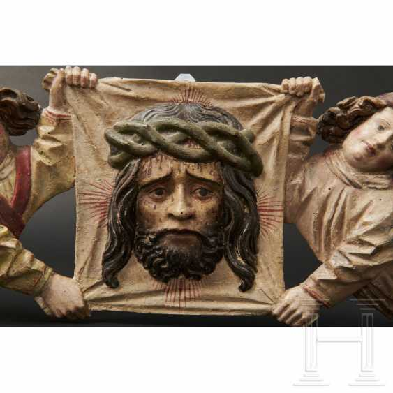 Two angels with a handkerchief of Saint Veronica, Memmingen, 1st quarter of the 16th century - photo 9
