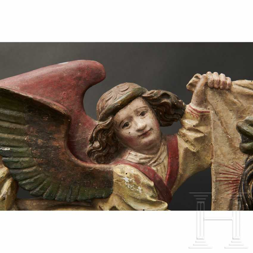 Two angels with a handkerchief of Saint Veronica, Memmingen, 1st quarter of the 16th century - photo 10